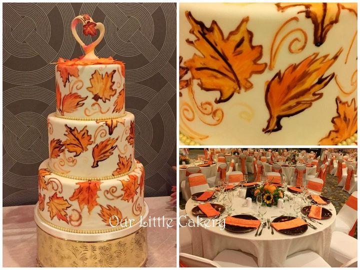 Tmx 1415809827061 0fall Wedding Fresno wedding cake