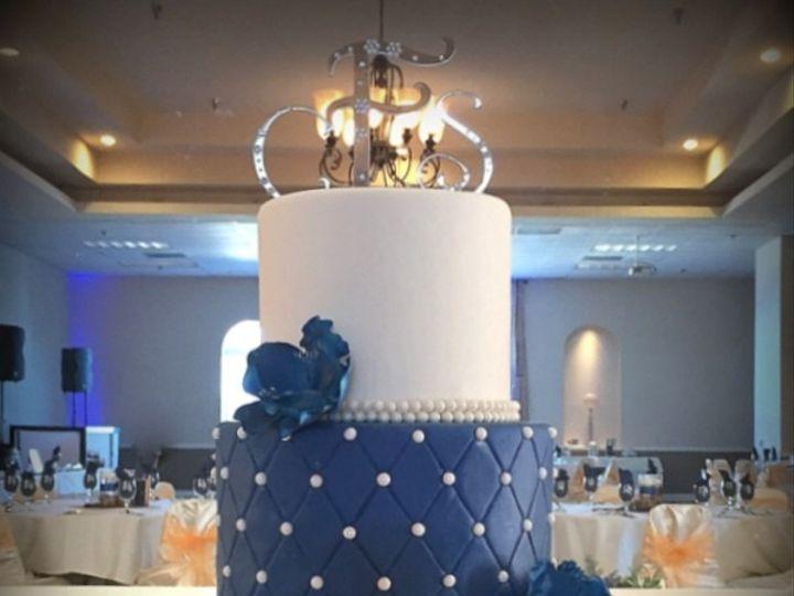 Tmx 1415809838623 0navy Blue Cake Fresno wedding cake