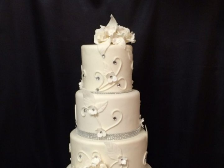 Tmx 1415809971568 0ani And Chris Fresno wedding cake
