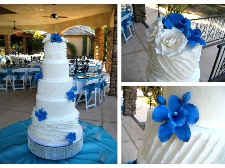 Tmx 1415810014031 0blue Orchid Ruffles Fresno wedding cake