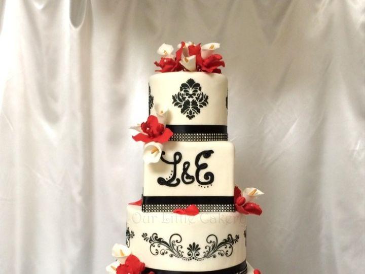 Tmx 1415810036023 0emily Damask Fresno wedding cake