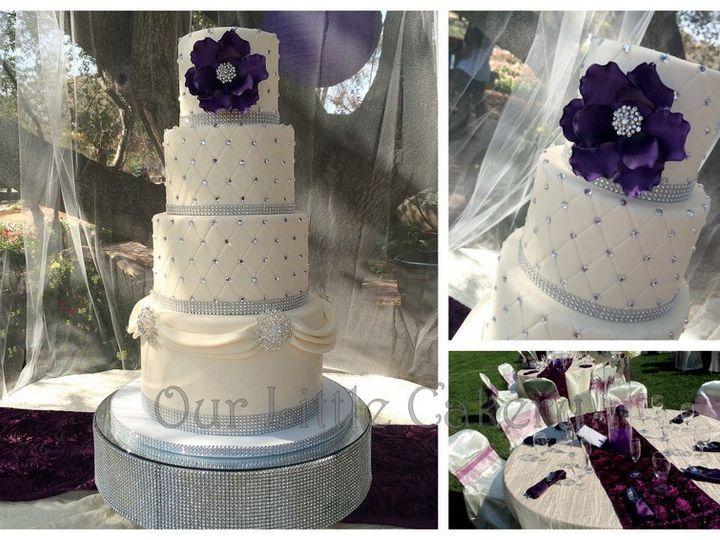 Tmx 1415811461679 0noelle Wedding Bling Fresno wedding cake