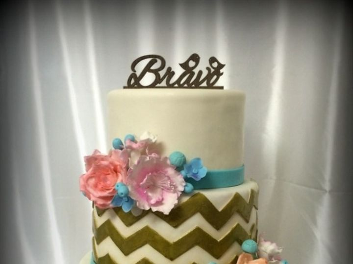 Tmx 1415811476347 0revised Gold Chevron Fresno wedding cake