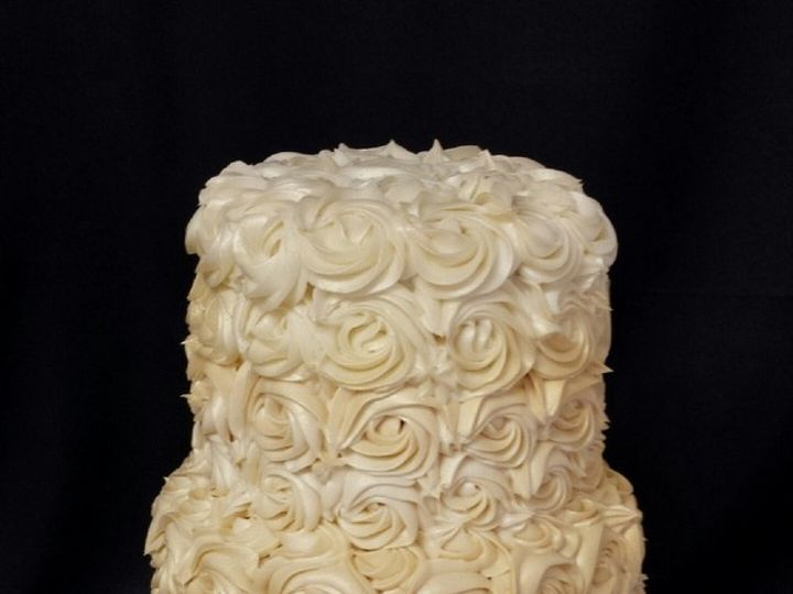 Tmx 1415811482165 0rosette Ivory Cake Wedding Fresno wedding cake