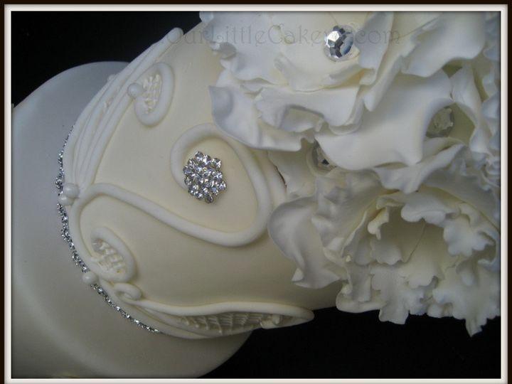 Tmx 1415811504686 0up Close Wed01 Fresno wedding cake