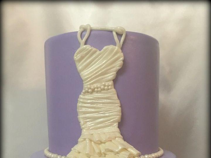 Tmx 1426355312043 Bridal Dress Cake Lavendar Fresno wedding cake