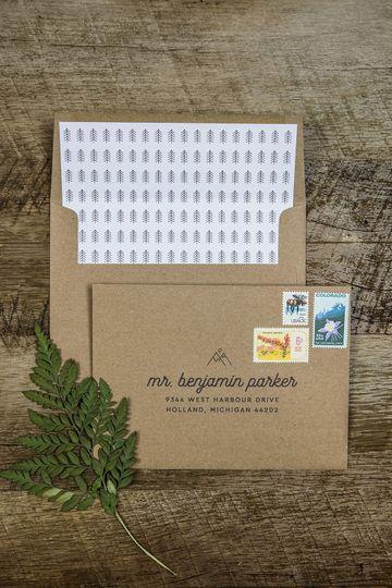 Rustic Woodgrain Suite Envelope