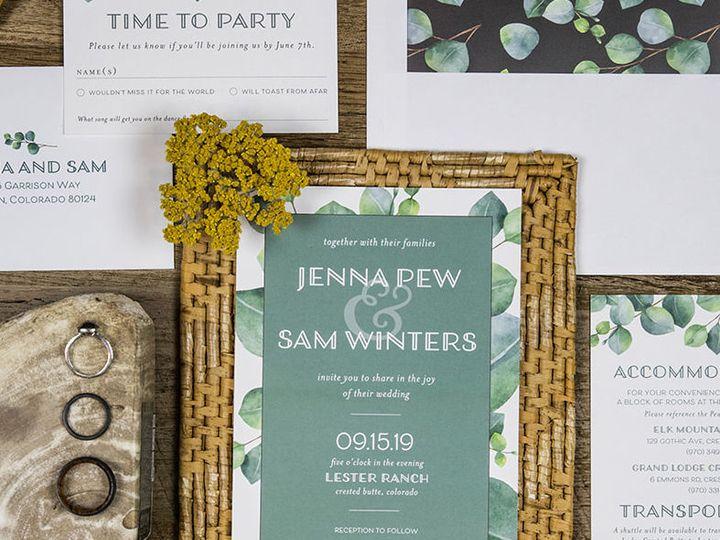Tmx 1536154774 11a988957a887c8d Main Image Denver, CO wedding invitation