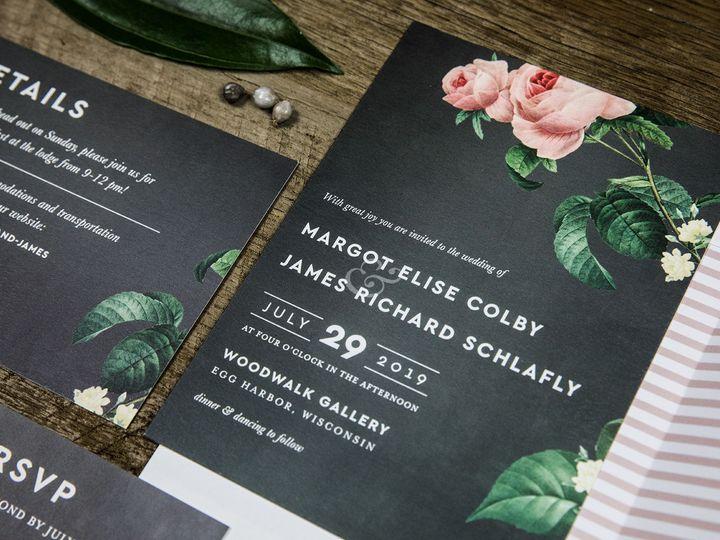 Tmx 1536156149 3a70d26677ce2289 1536156148 E88eb882f8f1a0b9 1536156145347 2 PaperGirlCreative  Denver, CO wedding invitation