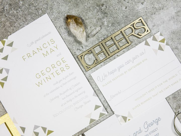 Tmx 1536156165 2326583d93b69680 1536156164 02ee8c5b503656b3 1536156160811 3 PaperGirlCreative  Denver, CO wedding invitation