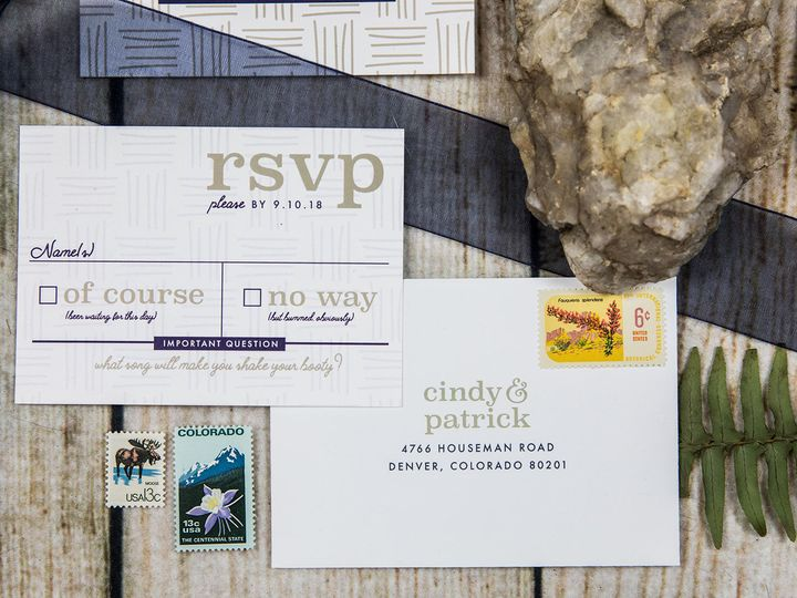 Tmx 1536156211 59cf00d50a9e4870 1536156210 D52457b7f60ebb51 1536156206401 7 PaperGirlCreative  Denver, CO wedding invitation
