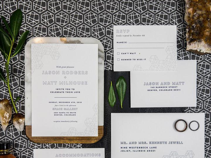 Tmx 1536156306 Eb9a10e84bca8b8e 1536156304 F533b6b495eebf61 1536156298967 12 PaperGirlCreative Denver, CO wedding invitation