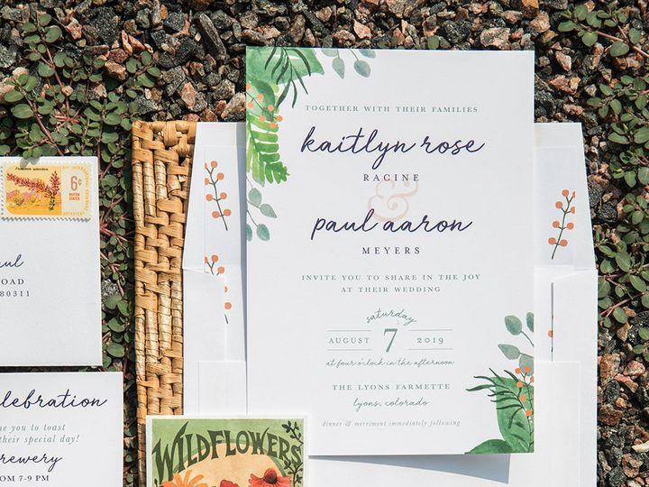 Tmx 1536156406 F4ab14b9c8f4108f 1536156405 37b75a272444a79f 1536156400246 15 PaperGirlCreative Denver, CO wedding invitation