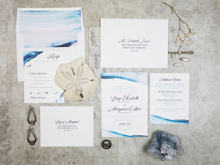 Tmx 1536333584 F6439b0a02e717e5 1536333583 Ba5b4db52f2d242b 1536333582746 3 PaperGirlCreative  Denver, CO wedding invitation