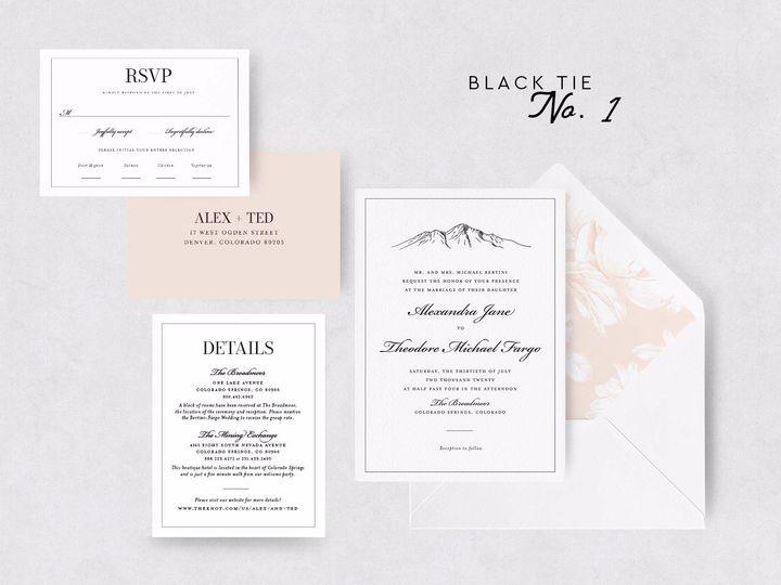 Tmx Blacktie 1 51 1015300 1571754221 Denver, CO wedding invitation