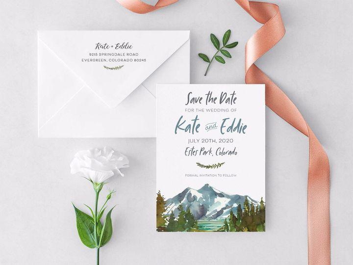 Tmx Mountain Watercolor Std 1 51 1015300 1571754313 Denver, CO wedding invitation