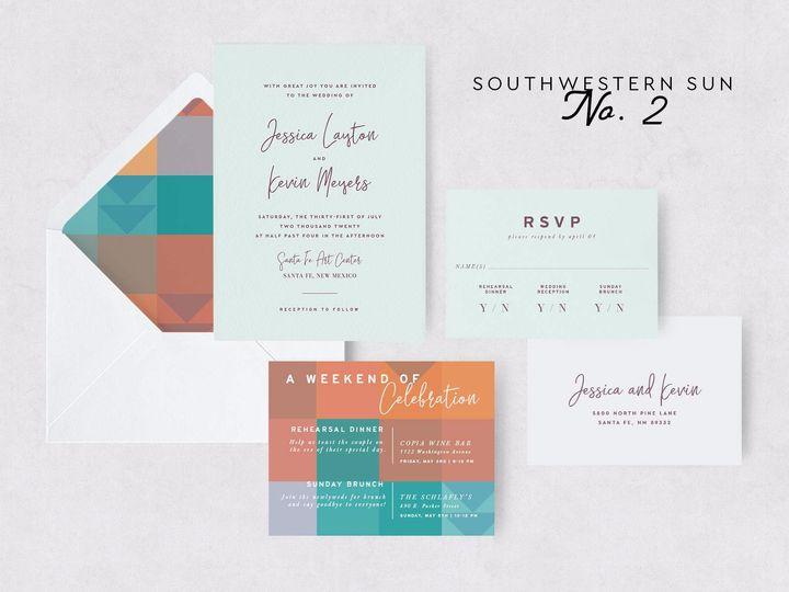 Tmx Southwestern Sun 2 51 1015300 1571754414 Denver, CO wedding invitation