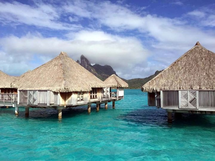 Kristin and Daniel's Tahiti honeymoon.  The overwater bungalow's at the St. Regis Bora Bora are the...