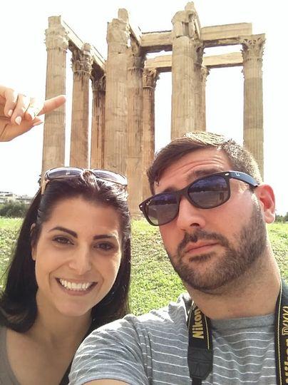 Errica & Justin exploring Athens, Greece.  Image:  Errica Diaz