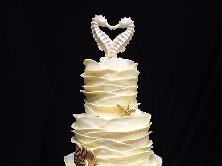Tmx 1454001379304 Wed4 Virginia Beach wedding cake
