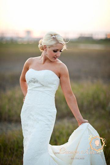 Sleek wedding dress