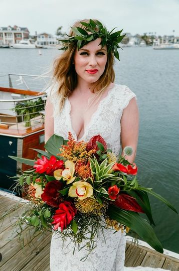 Bride by the docks