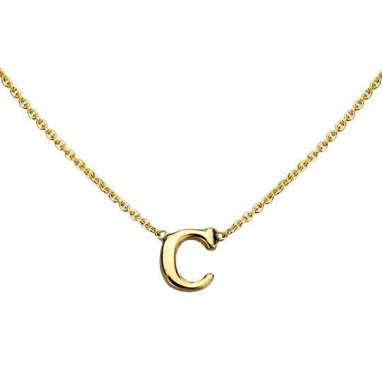 gold initial necklace c