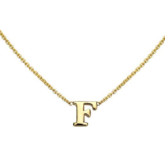 gold initial necklace f