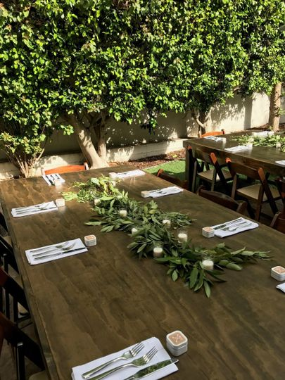 Tablescape for Jenny and Jason's Wedding