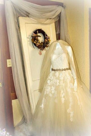 Vintage diorama for Bridal Destination's grand opening.