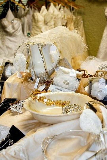 Tiara display for Bridal Destination grand opening.