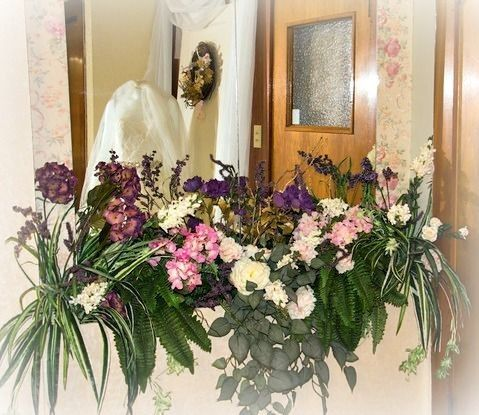 Floral display for Bridal Destination's grand opening.
