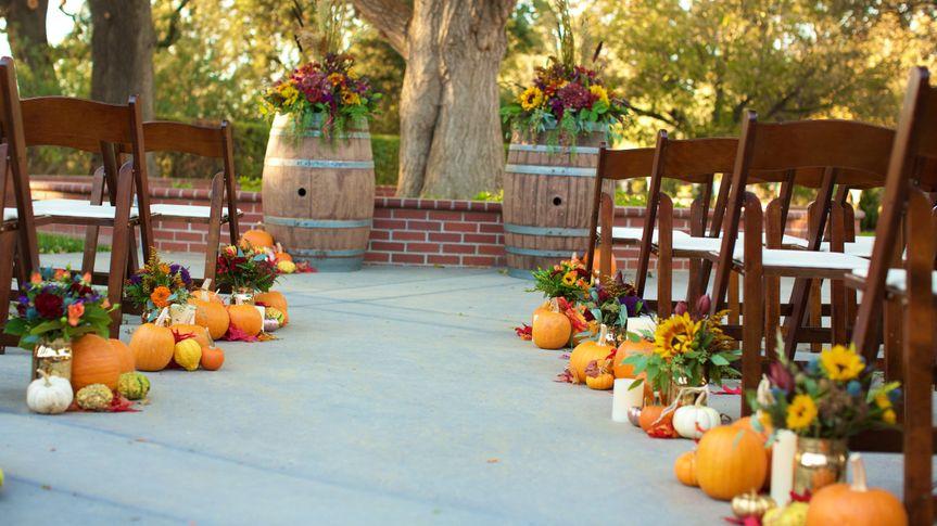 Wedding ceremony setting