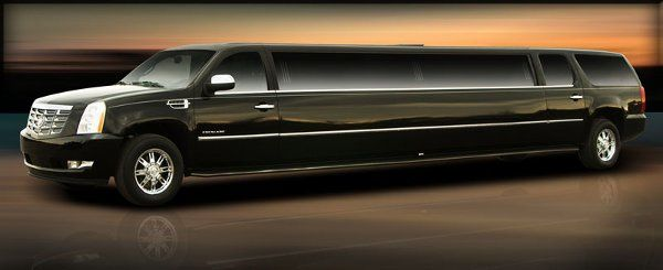 Cadillac Escalade limousine.  Seats 14 passengers with luxurious leather seating and surround sound...