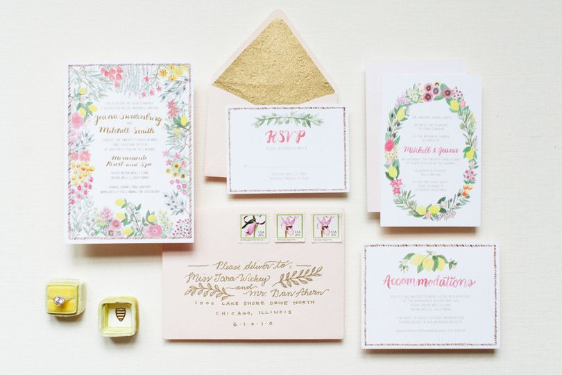800x800 1445358188995 jeana full invitation horizontal - Wedding Invitations Chicago