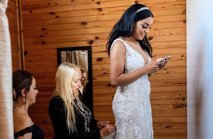 Bustling the Bride!