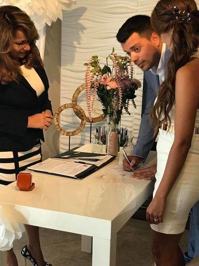 groom signing
