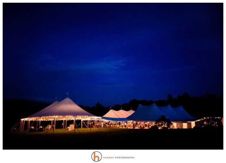 Wedding Tents at Night