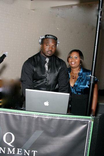 Richie-Rich and wife Ebony.