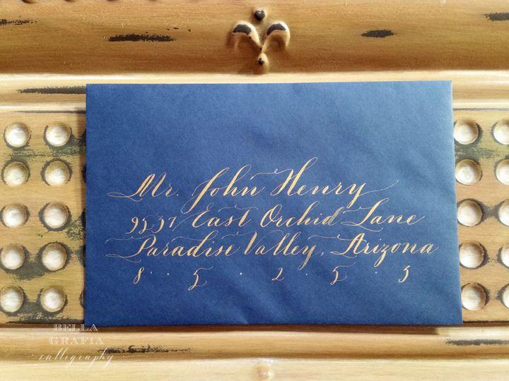 john henry blue w gold envelope wm