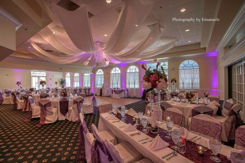 Pink reception uplights