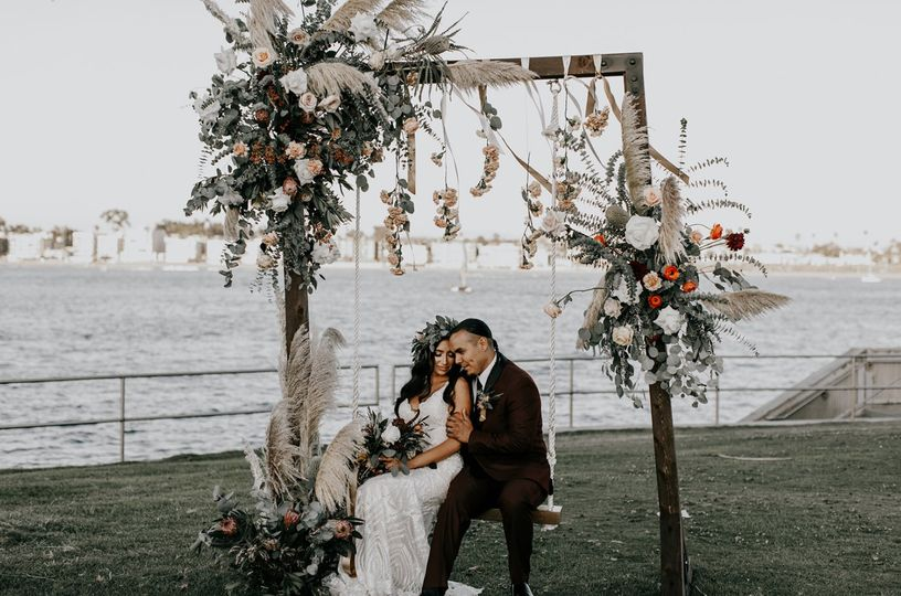 Wooden Ceremony Arch & Swing