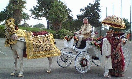 Tmx 1225299909765 IndianCarriageBride%26Groomoutside Moorpark wedding transportation