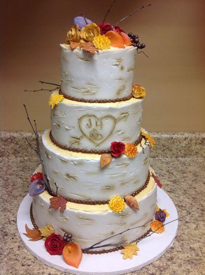 4-tier autumn wedding cake