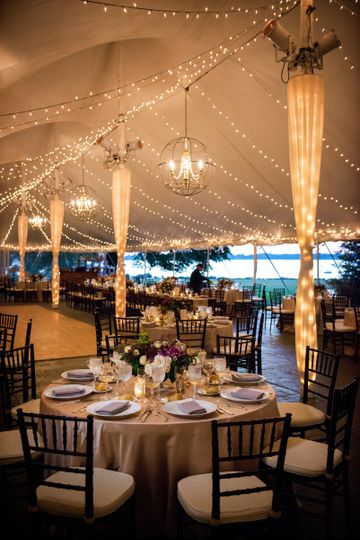 Marquee wedding reception venue