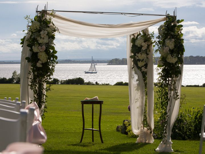 Tmx 1446048116009 Blithewold Ceremony View Bristol, RI wedding venue