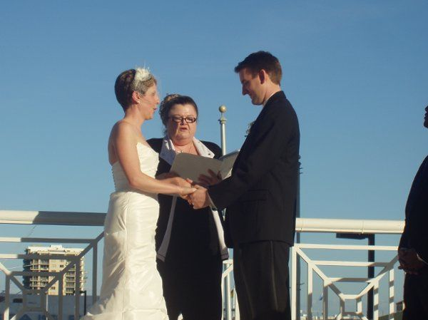 Marriott Hotel Key Biscayne was the venue for this outdoor wedding.