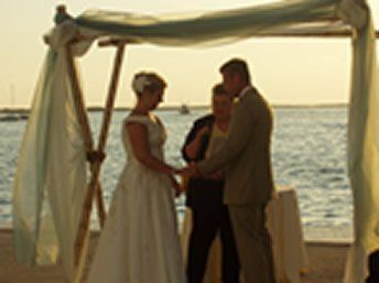 Venue for this non-denominational wedding was the Marriott, Key Largo