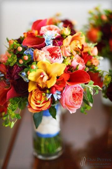Warm floral arrangement