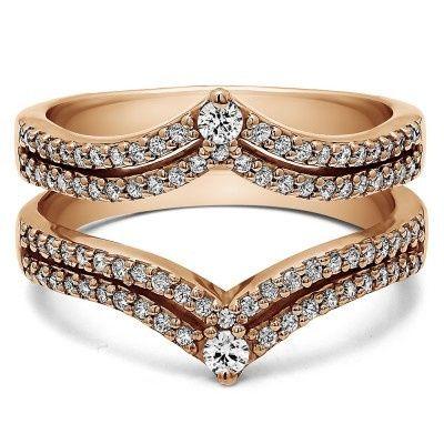 Diamond studs on gold band